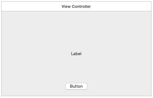 Abbildung 4.1: Button und Label auf der View
