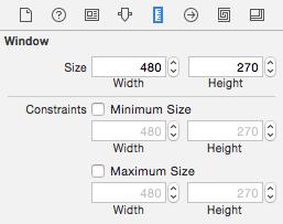 Abbildung 5.6: Der Size inspector des Windows